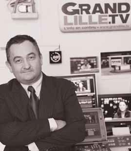 Olivier Ramond, DG de Grand Lille TV ©Maxime Dufour Photographies