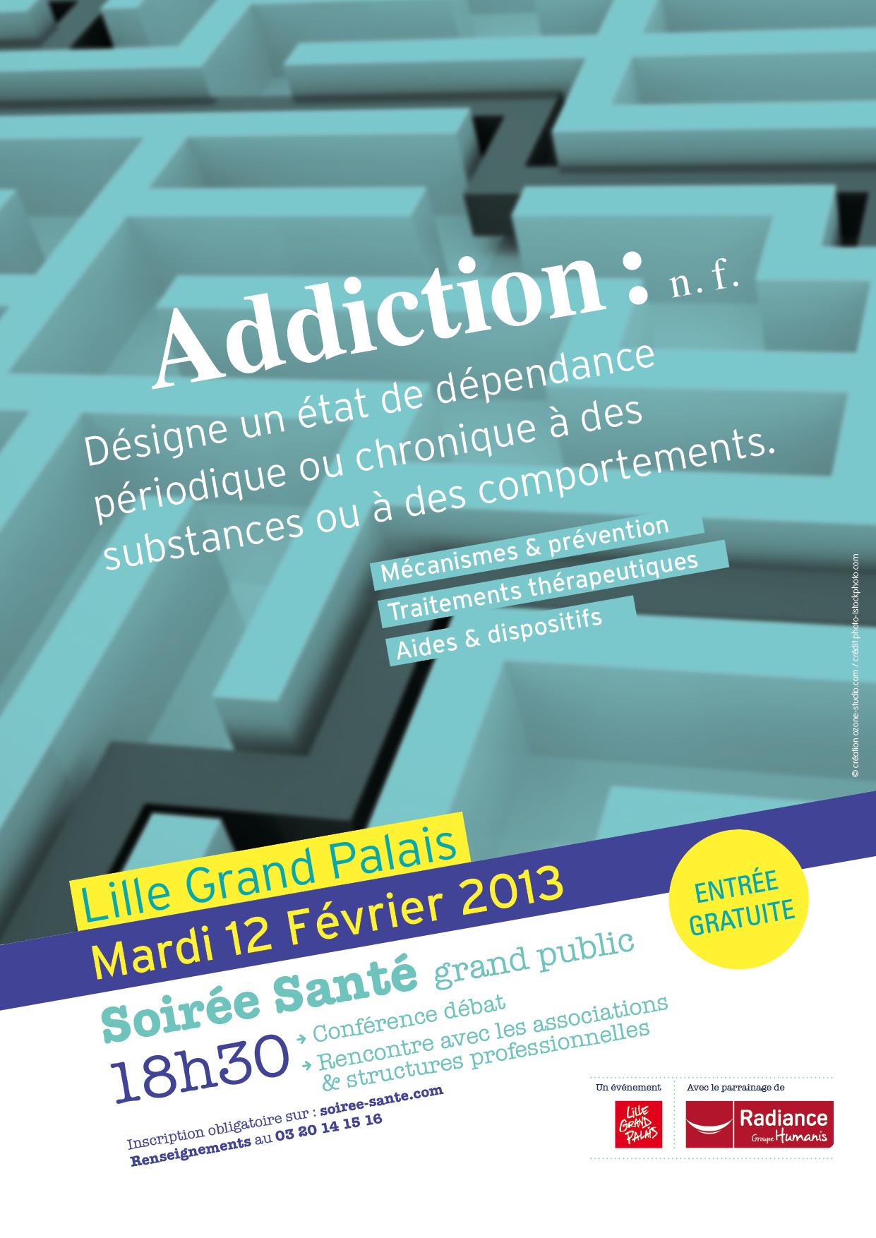 Affiche soirée santé addiction