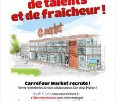 salon carrefour market affiche
