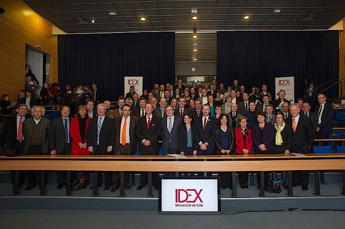 Conférence de presse , dépot du dossier Idex, 21 janvier 2015
