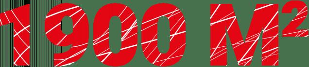 1 900 m²